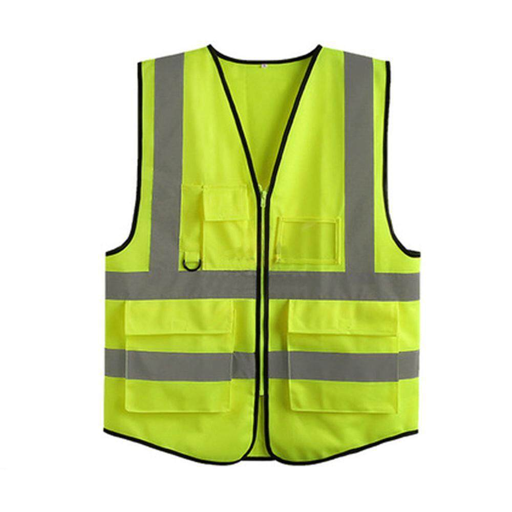Leegoal Safety Vest Reflective, High Visibility Safety Vest 4 Pockets Zipper By Leegoal