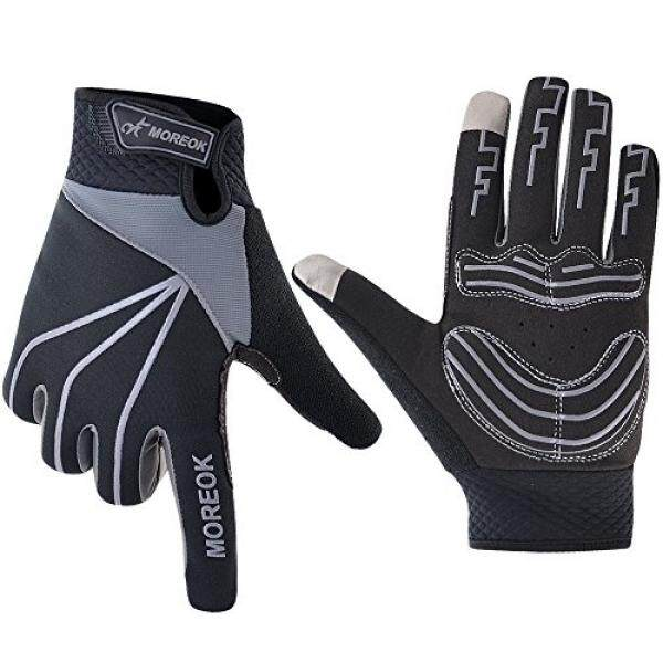 MATT SAGA Cycling Gloves Full Finger Bike Bicycle Gloves Touch Screen Windproof Mountain Bike Road Bike Gloves Gel Padded Riding Driving Winter Gloves for Men and Women Shock Absorbing Breathable - intl