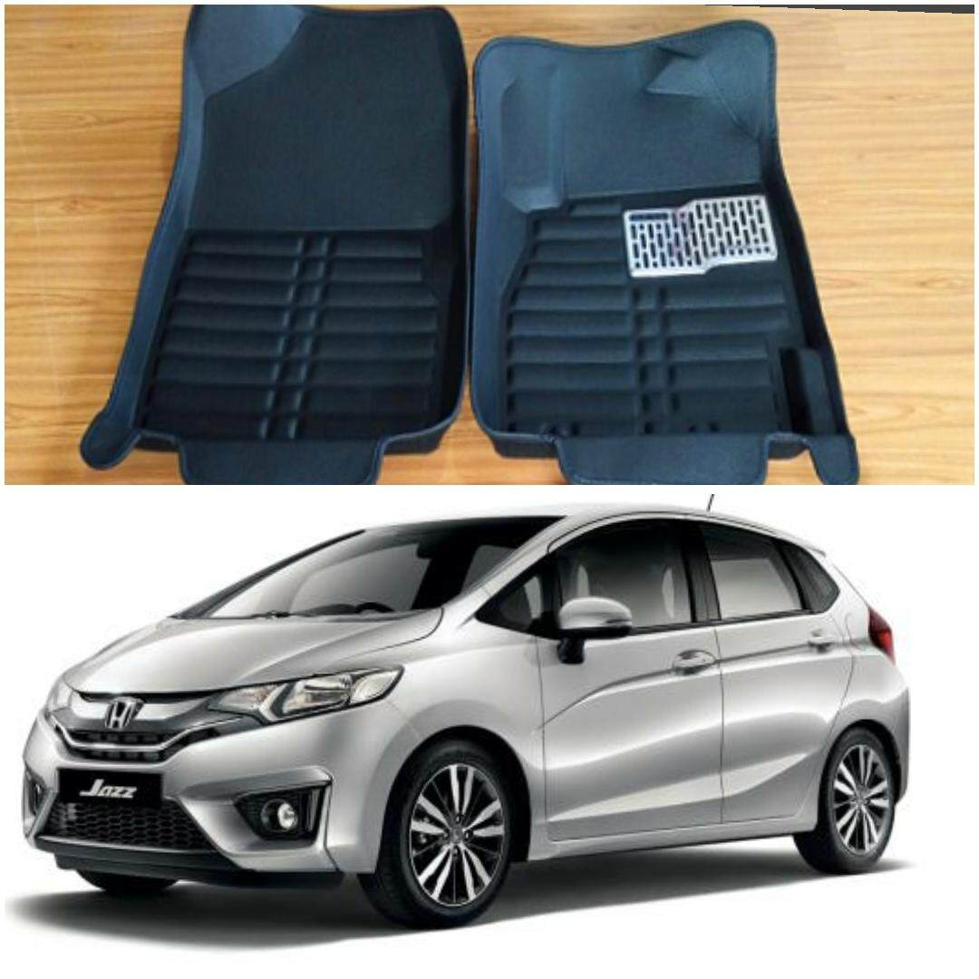 READY STOCK HONDA JAZZ CAR FLOOR MAT WATERPROOF (FULL SET LEATHER)