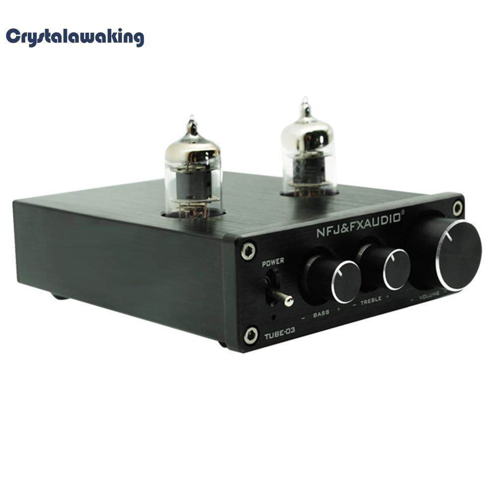 TUBE-03 HIFI Buffer 6J1 Tube Pre-amplifier Music Amplifier with Treble Bass (Black)