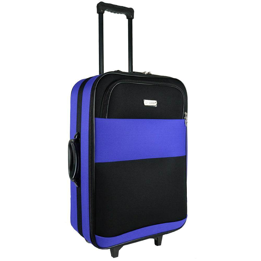 W.Polo BE9819 20inch 2W EVA Softcase Luggage with Middle Roller - Violet/Black