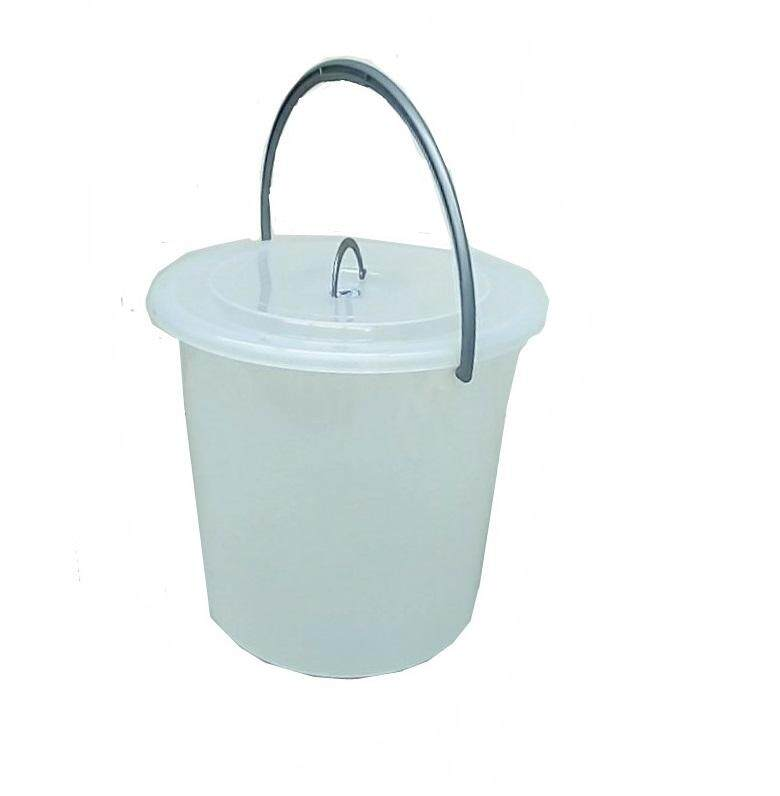 (OW) 8 Gallon Semi Transparent Pail With Cover