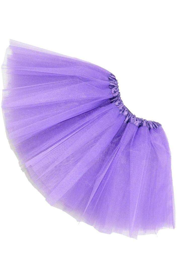 Women/adult Organza Dance Wear Tutu Ballet Pettiskirt Princess Party Skirt Purple By Lapurer.