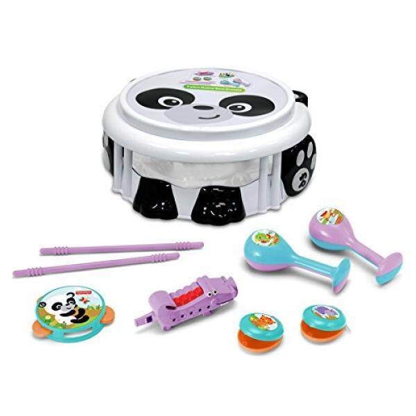 Fisher Price Music - Drum Set - Musical Band Drum Set - Panda - Comes with Drum, Sticks, Recorder, Tambourine, Whistle, Castanets, and Maracas - Great for Kids Play & Early Learning / From USA