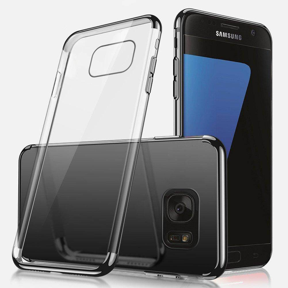 For Samsung Galaxy S6 Edge Ultra-thin Crystal Clear Shockproof Electroplating Transparent Bumper Soft TPU