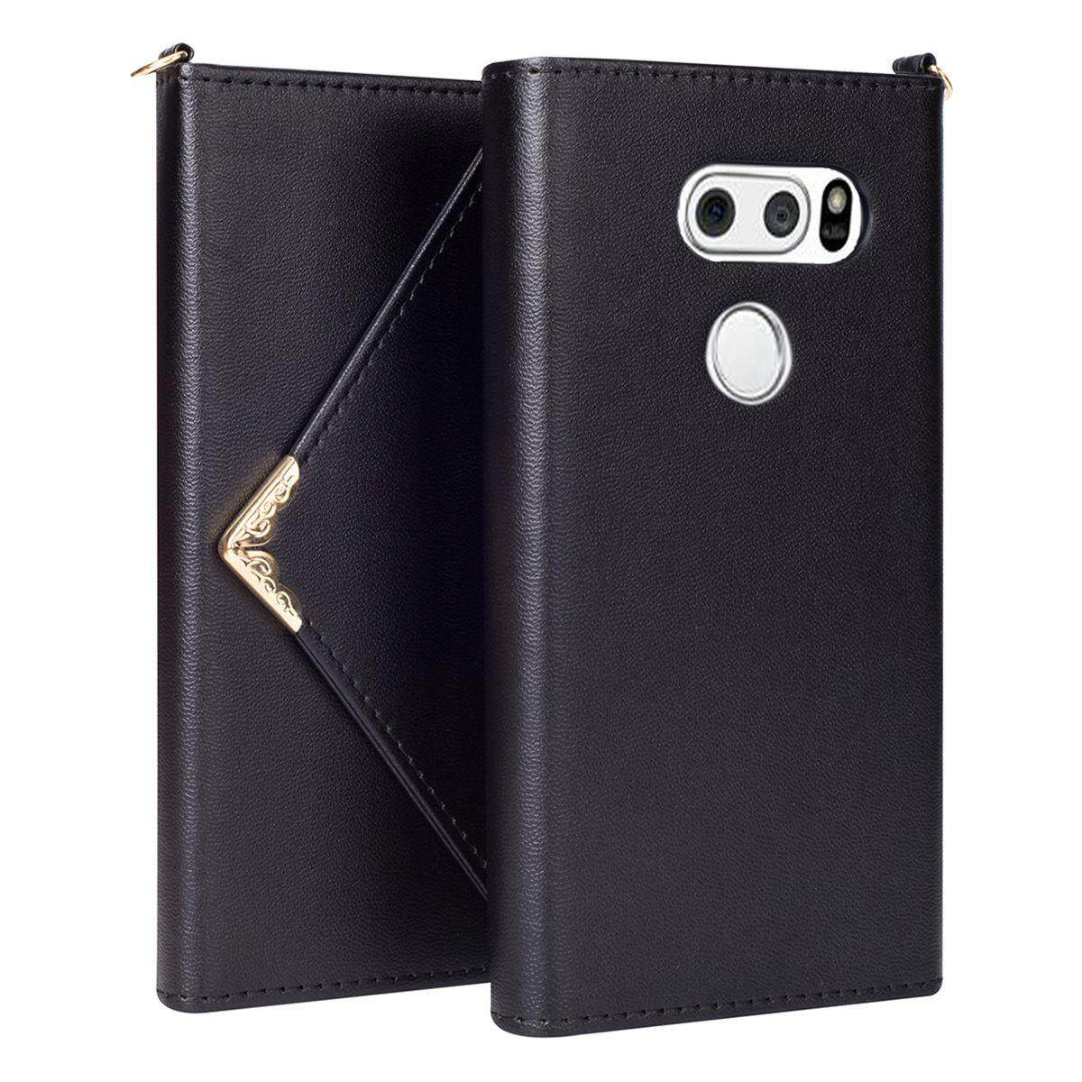 Discount Lg V30 V30 Case Meishengkai High Quality Pu Leather Envelope Style Design Wristlet Handbag Magnetic Flip Cards Wallet Tpu Inner Protective Book Cover Case For Lg V30 Lg V30 Plus 6 Intl Msk China