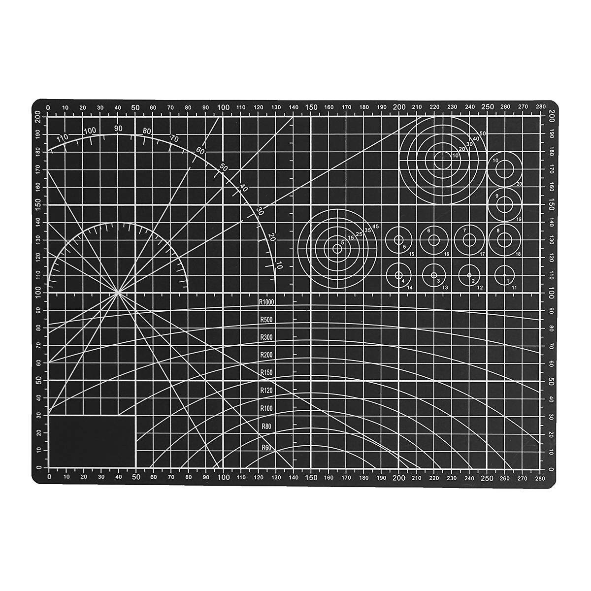 A3 PVC Self Healing Cutting Mat Craft Model Quilting Grid Lines Printed Board