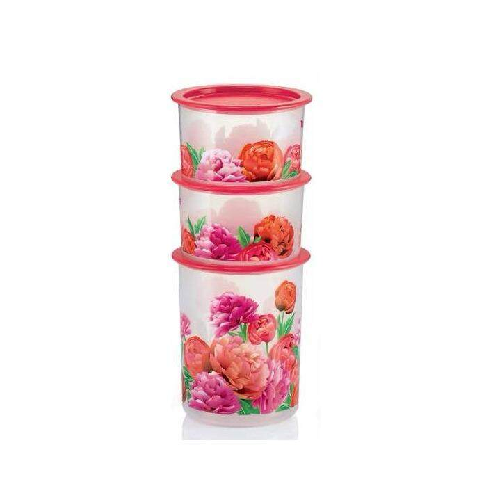 Tupperware Blooming Peonies One Touch Set (3pcs)
