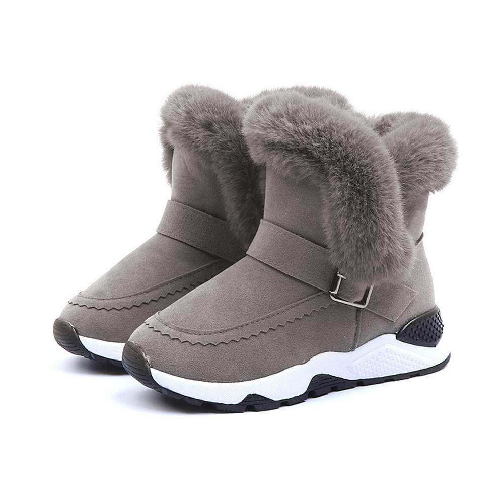 Giá bán DLong Bé Gái SHOSE Ấm Không Trơn Trượt Cho Bé Giày Sang Trọng Giày Ống Thấp Giày Trẻ Em Giày Ủng cho Bé Trai Bé Gái