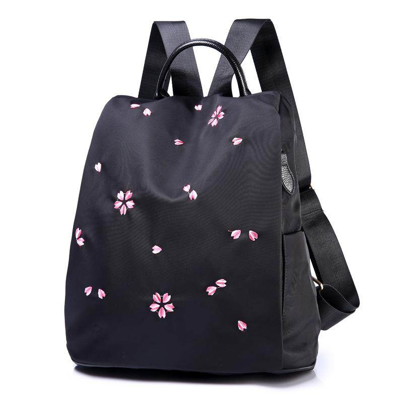 410aed664dbc Korean Style Floral Anti Theft Backpack Purse Fashion Women Lightweight  Nylon Bags Lightweight Travel Bag Large Capacity School Bag