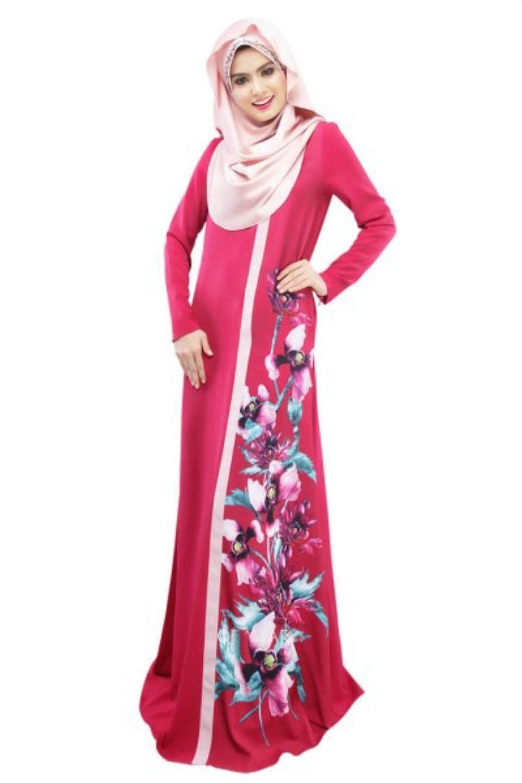 Muslim Dresses For Sale Women Dress Online Brands Prices Kemeja Lavender Contrast Multicolor Shop At Velvet National Digital Printing Multi Code Arab Robes