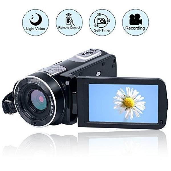 Kamera Video Camcorder Penuh Kamera Digital HD 1080 P 24.0MP Kamera Vlogging Modus Malam Fungsi Jeda dengan Pengendali Jarak Jauh-Intl