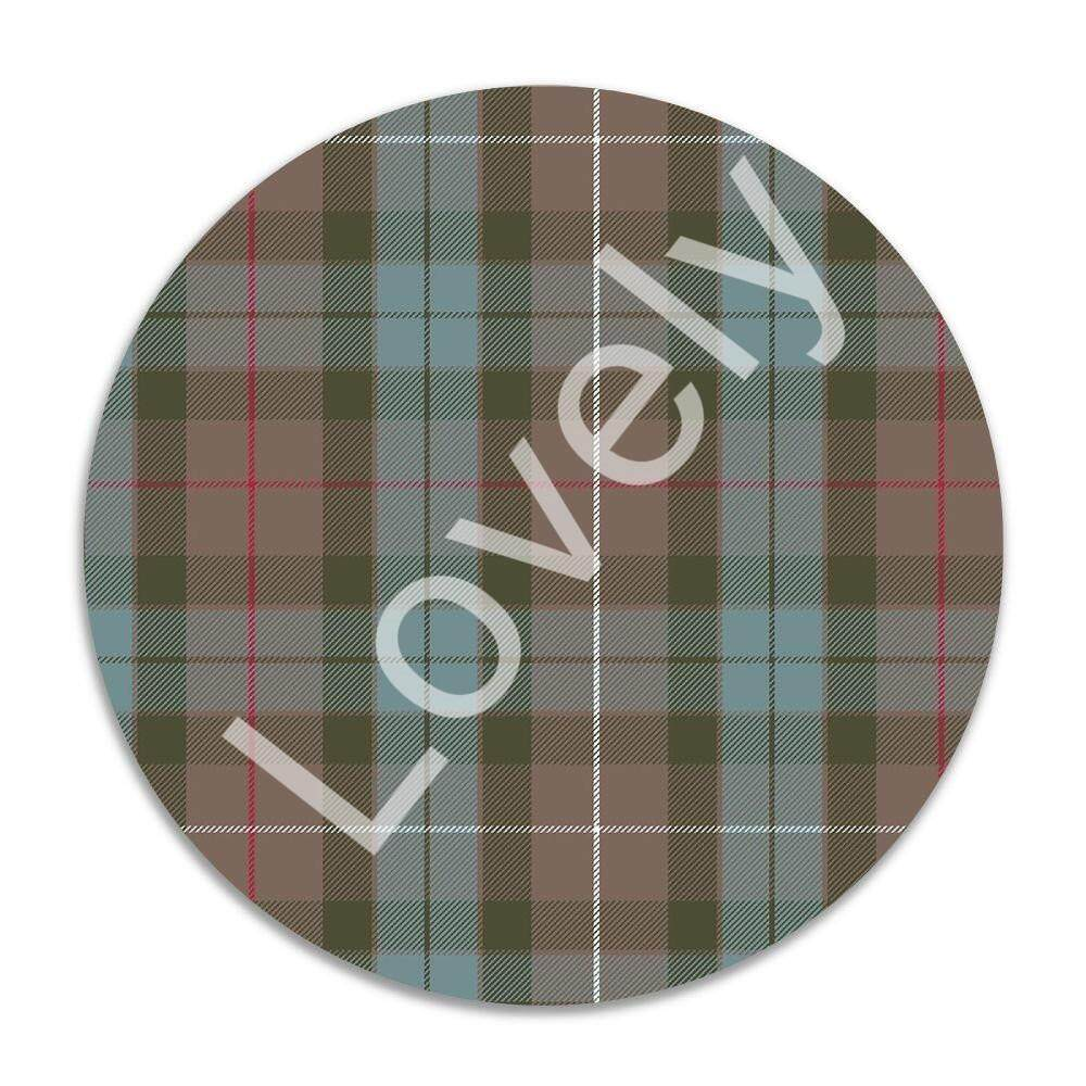 Gaming Mouse Pad, 7 Inches Round Natural Rubber Base, Non-Slip Mouse Mat Fraser Hunting Weathered Tartan 1J1112 - intl