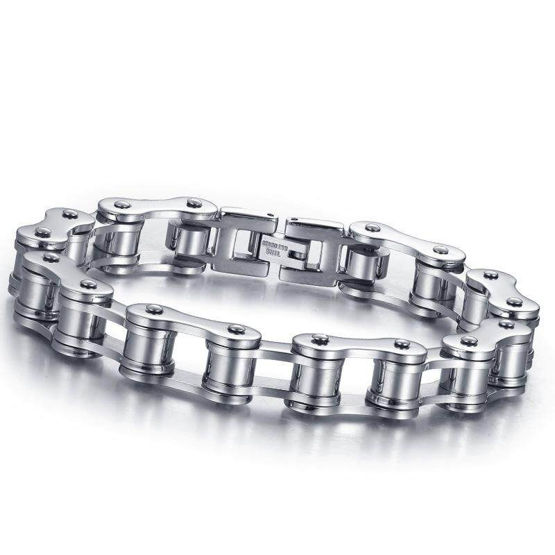 Man Bicycle Chain Titannium Hand Ring Bracelet By Newstart.