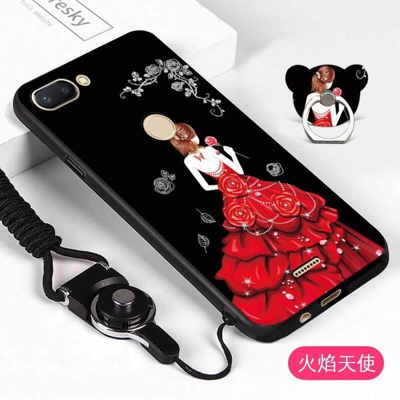 Lembut Sarung untuk Xiaomi Redmi 6 Pink Animal Case Stan Telepon Cincin