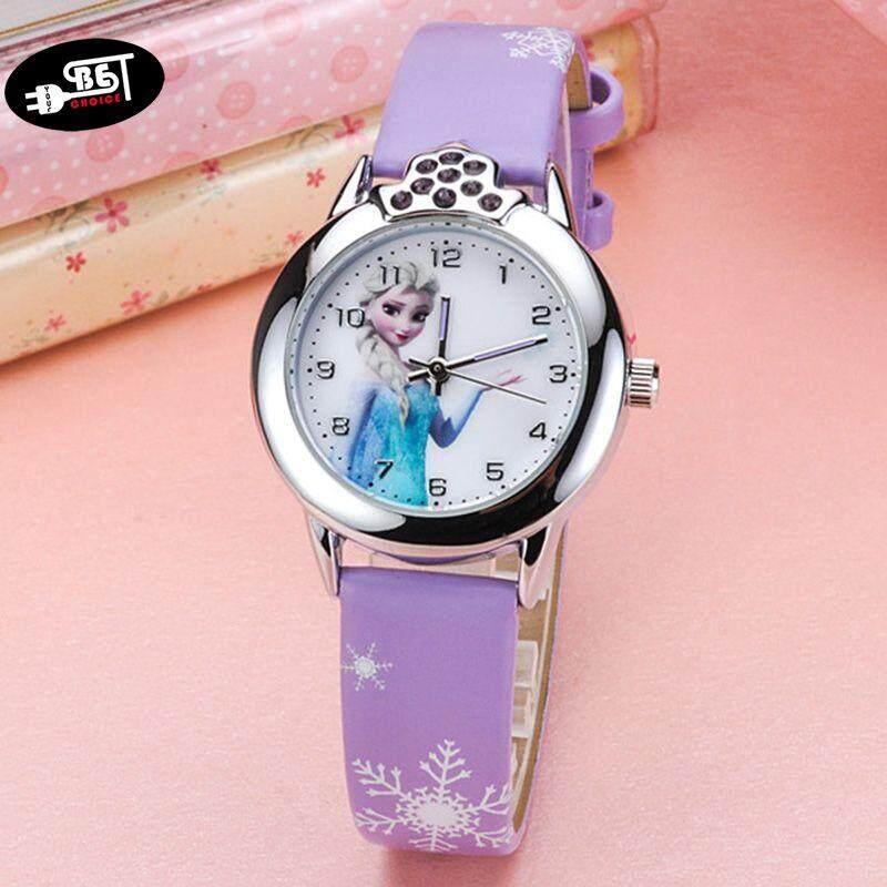 YBC Cartoon Princess Pattern Dial Quartz Wrist Watch with PU Leather Strap Sport Casual Watches Malaysia