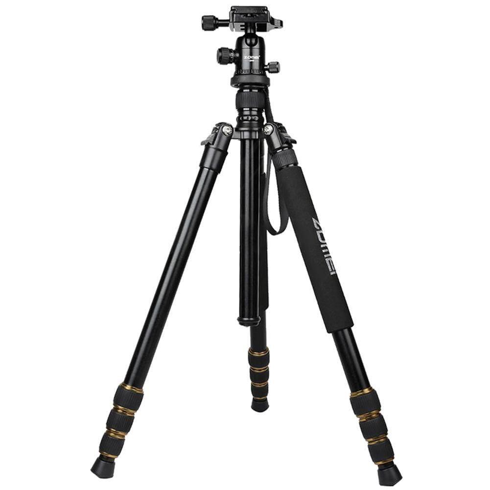Zomei Penyaring Bentuk Lingkaran Q666 Portable Aluminium Tripod & Ball Head untuk DSLR Kamera-Internasional