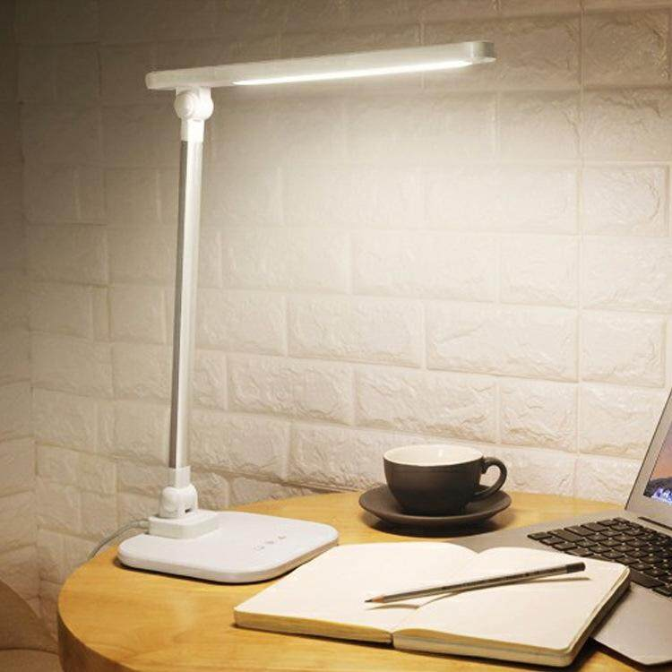 QUKAU Led table lamp children learning desk lamp LED eye reading lamp battery charge usb light color dimmable Singapore