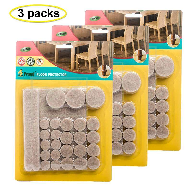 Z PLUS 3 Sets of 38 pcs Adhesive Felt Pad Furniture Cushion Table Bed Floor Hardwood Anti Scatch Protector