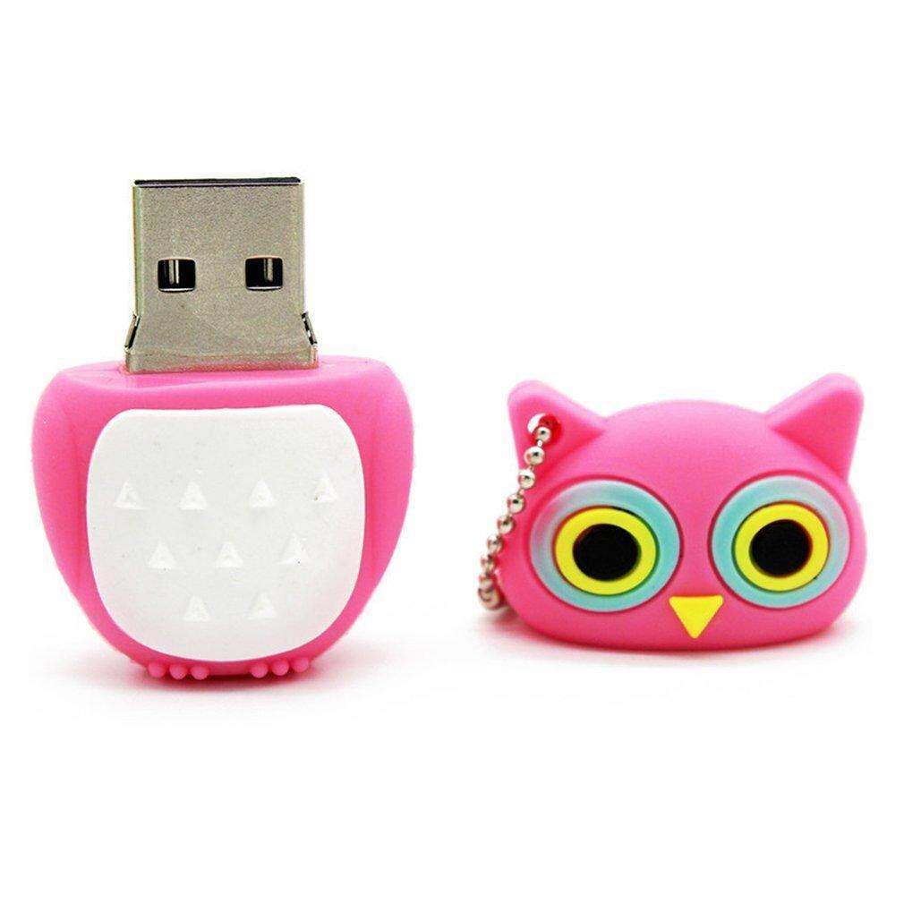 Hot Penjualan Yang Indah Lucu Burung Hantu USB2.0 Flash Drive Stick Memory Flashdisk Disk U Hadiah