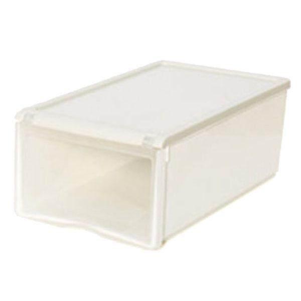 HOT Transparent Drawer Case Plastic Shoe Storage Boxes Organizer Stackable Box, Gray