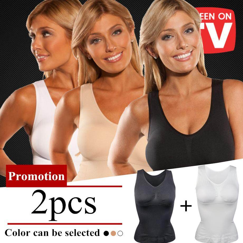 09b6750e787fe 2 Pcs New upgrade Hot Shaper Slim Up Lift Plus Size Bra Cami Tank Top Women