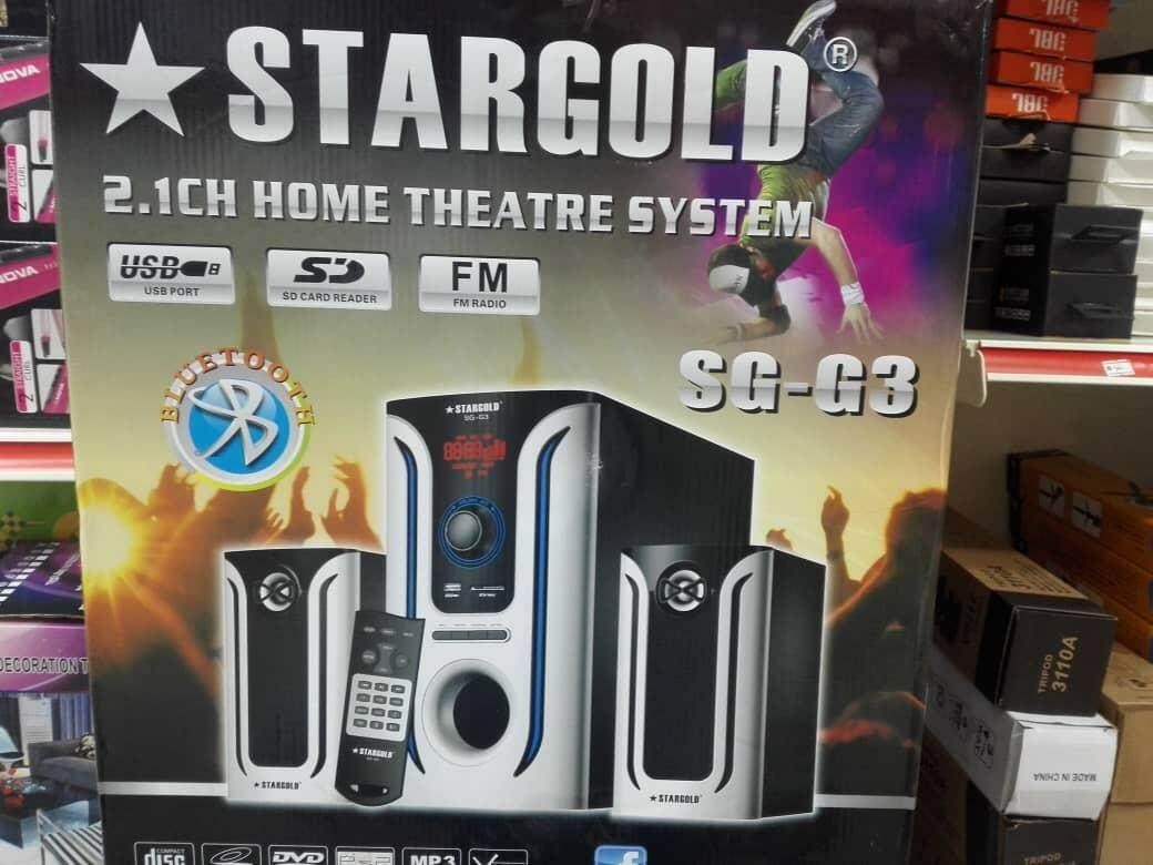 Detail Gambar Stargold 2.1ch Home Theatre System SG-G3 High resolution audio capability with