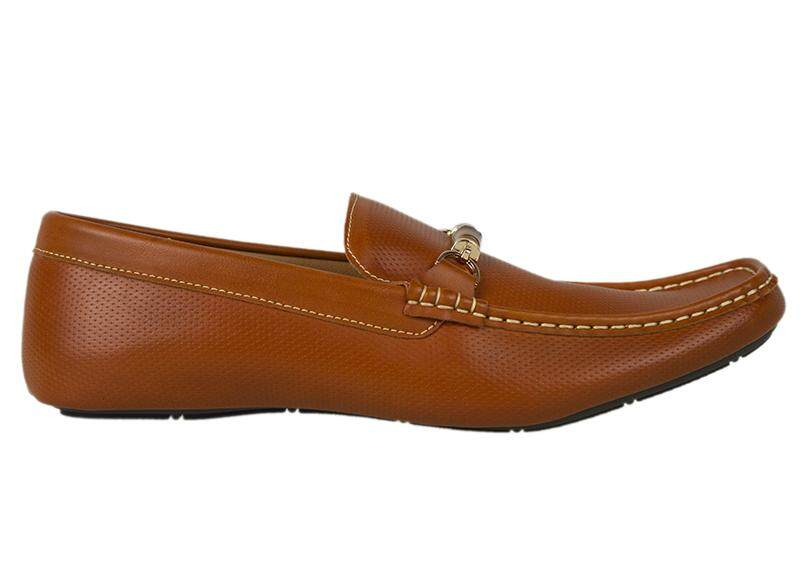 Tomaz Luis Perforated Buckled Loafers