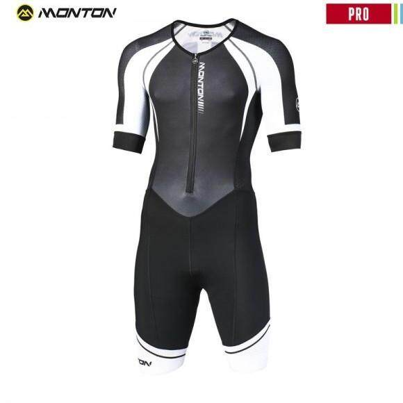 MONTON MENS BICYCLE SKINSUITS PRO DESENZANO BLACK WHITE