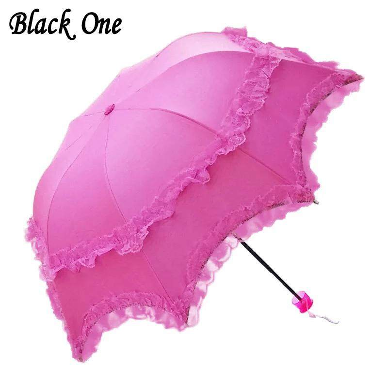 fe49b084d83f3 NNMB Lace Folding Umbrella Rain Women Girls Parasol Activity Wedding  Waterproof Anti-uv Umbrellas Guarda