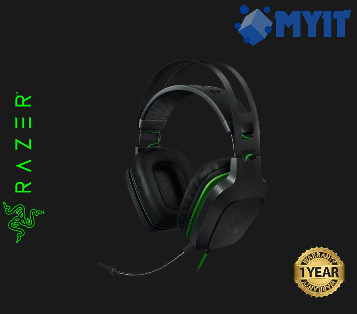 Razer Original Electra V2 PC and Console Gaming Headse with 40mm Drivers Removable Mic (USB Version)