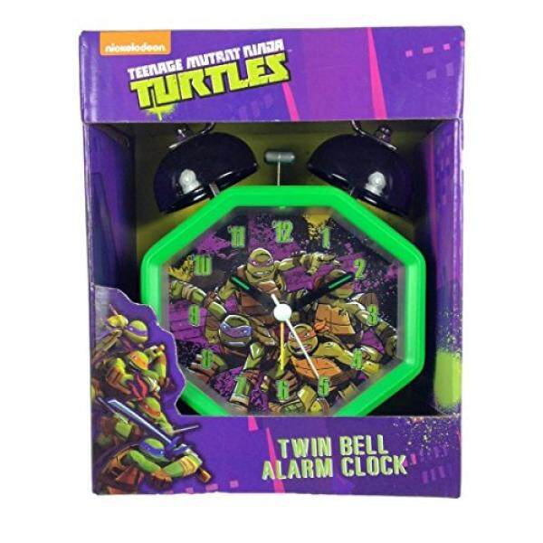 Teenage Mutant Ninja Turtles Alarm Clock with Twin Bell Alarm / From USA