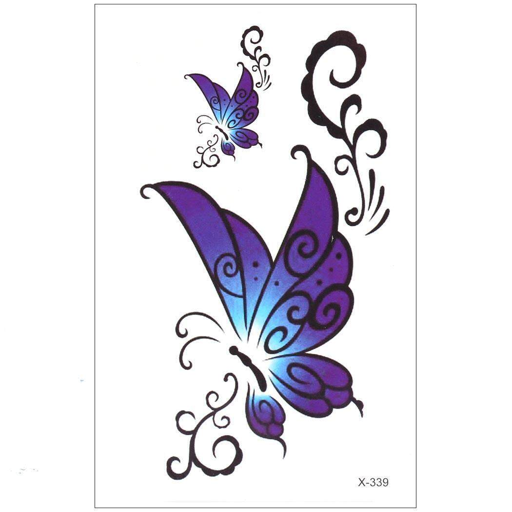 Hình ảnh High Quality Sunwonder Colorful Butterfly Removable Waterproof Temporary Tattoo Sticker Body Art Sticker