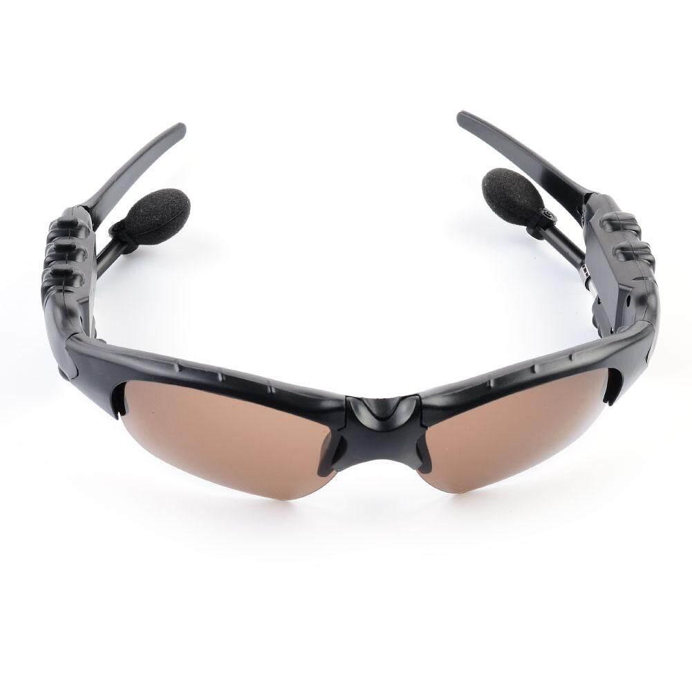 Bluetooth Earphone Kacamata Hitam Polaroid 2 In 1 270 Derajat Rotasi Binaural Headset Stereo Outdoor-
