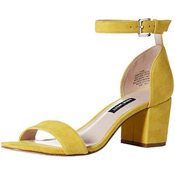 Nine West Womens frostbite Suede Heeled Sandal, Yellow Suede, edium US - intl