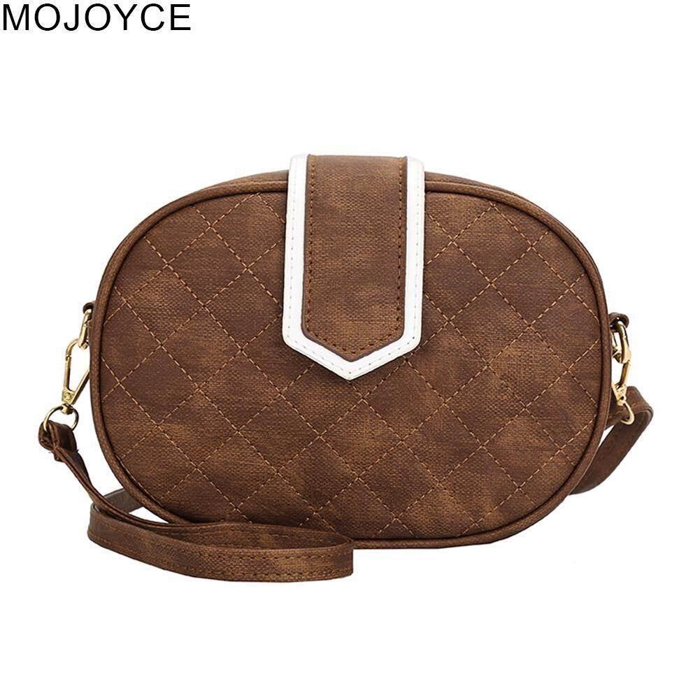 ee119785f3ba MOJOYCE Women Oval Small Handbag PU Leather Messenger Clutch Shoulder  Crossbody Bag
