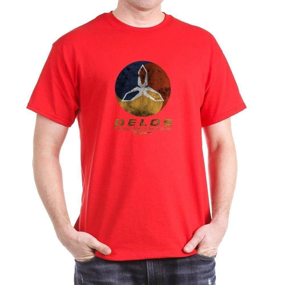 177620e4ec85 Cafepress - Westworld - Delos Logo - 100% Cotton T-Shirt Causal Short  Sleeved