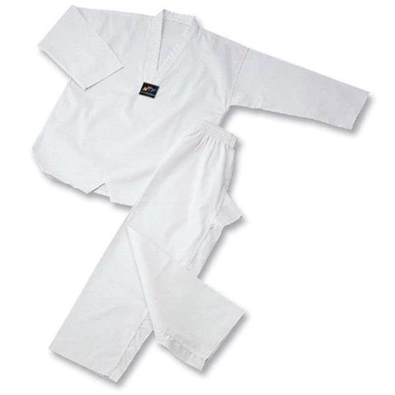 White Collar Taekwondo Uniform Dobok Adult Kids Breathable Cotton Karate Dobok Black Collar Wtf Approved Uniform Good Fabric By For All.