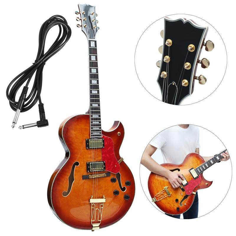 Electric Guitar Semi Hollow Body 335 Style 5a Quilted Grove Jazz Guitar By Moonbeam.