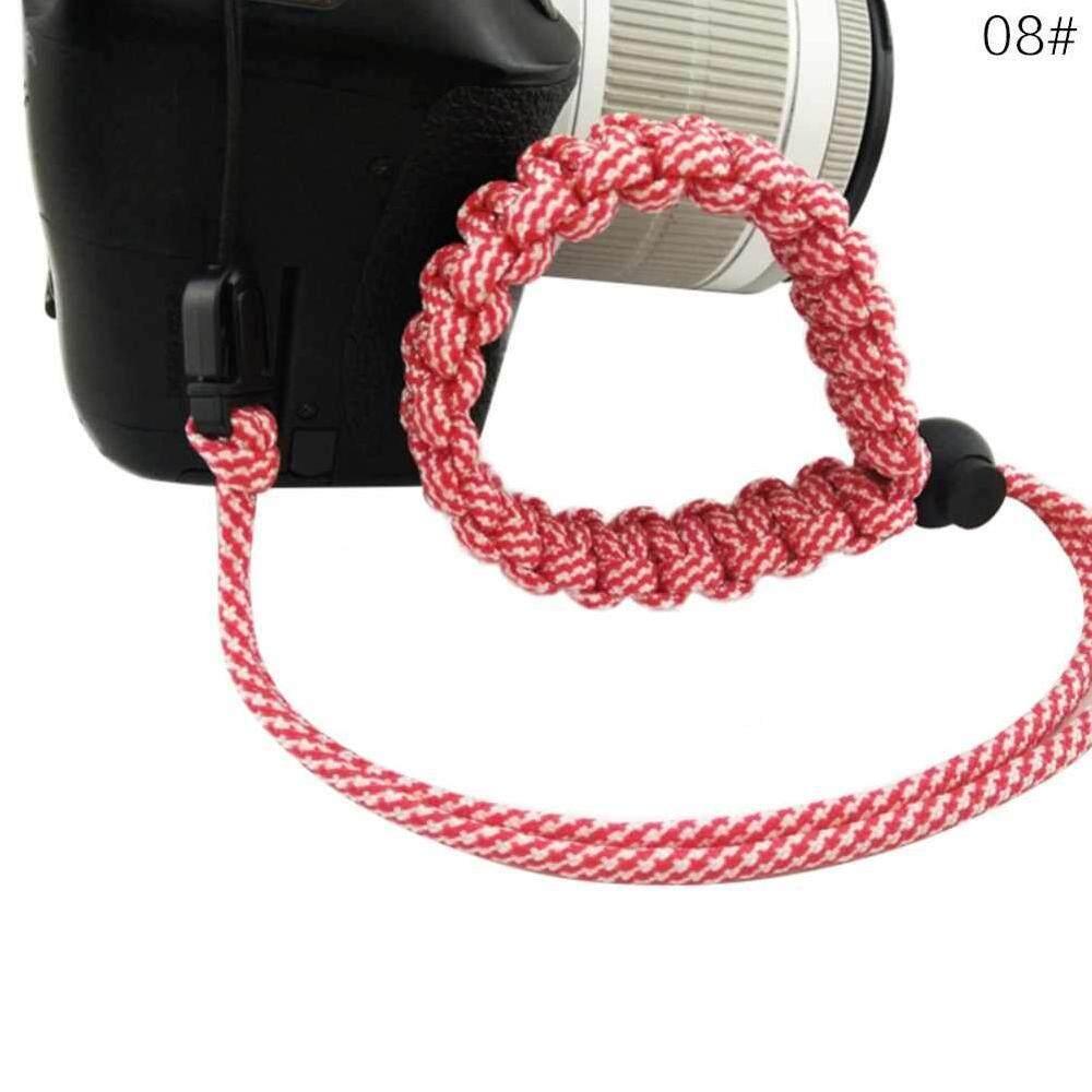 Yuero 19 Warna Kamera Portabel Pergelangan Tangan Tali Paracord Adjustable Jalinan Tali Parasut Gelang Gelang untuk Nikon Canon Sony Pentax Minolta Panasonic Olympus Kodak SLR DSLR kamera Digital