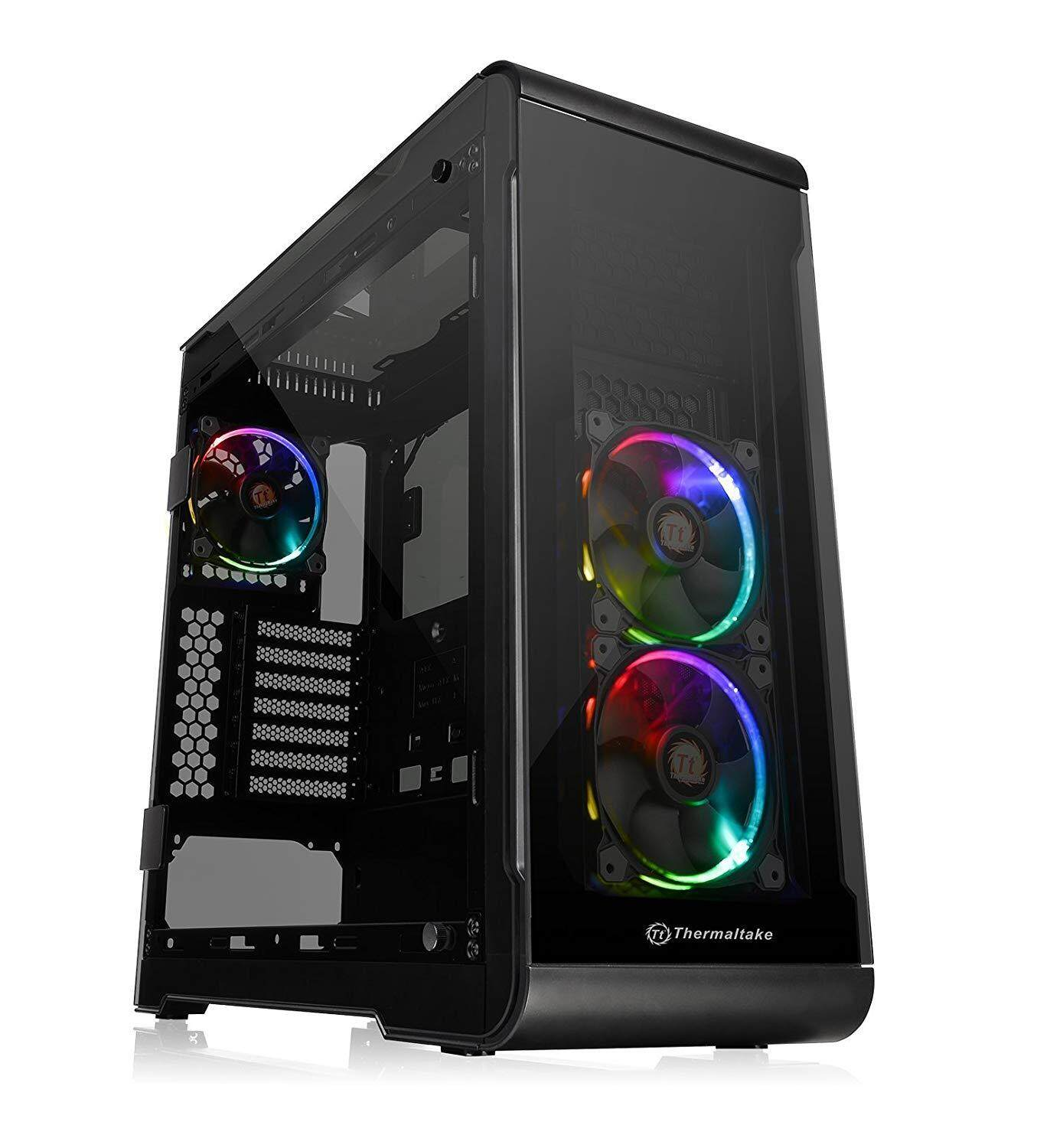 Thermaltake View 32 TG RGB Mid-Tower E-ATX Gaming PC Computer Case (4x Tempered Glass, 3x Pre-installed 120mm RGB Fans) Malaysia