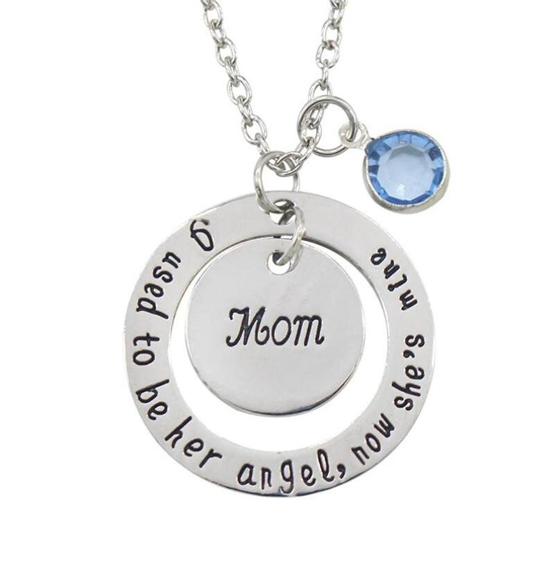 BOOM-Jewelry Couple Mom&Dad Silver Alloy Necklace Pendant Mother's day Father's ...