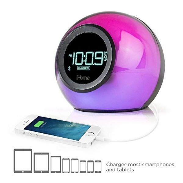 iHome iBT29BC Bluetooth Color Changing Dual Alarm Clock FM Radio with USB  Charging and Speakerphone - intl