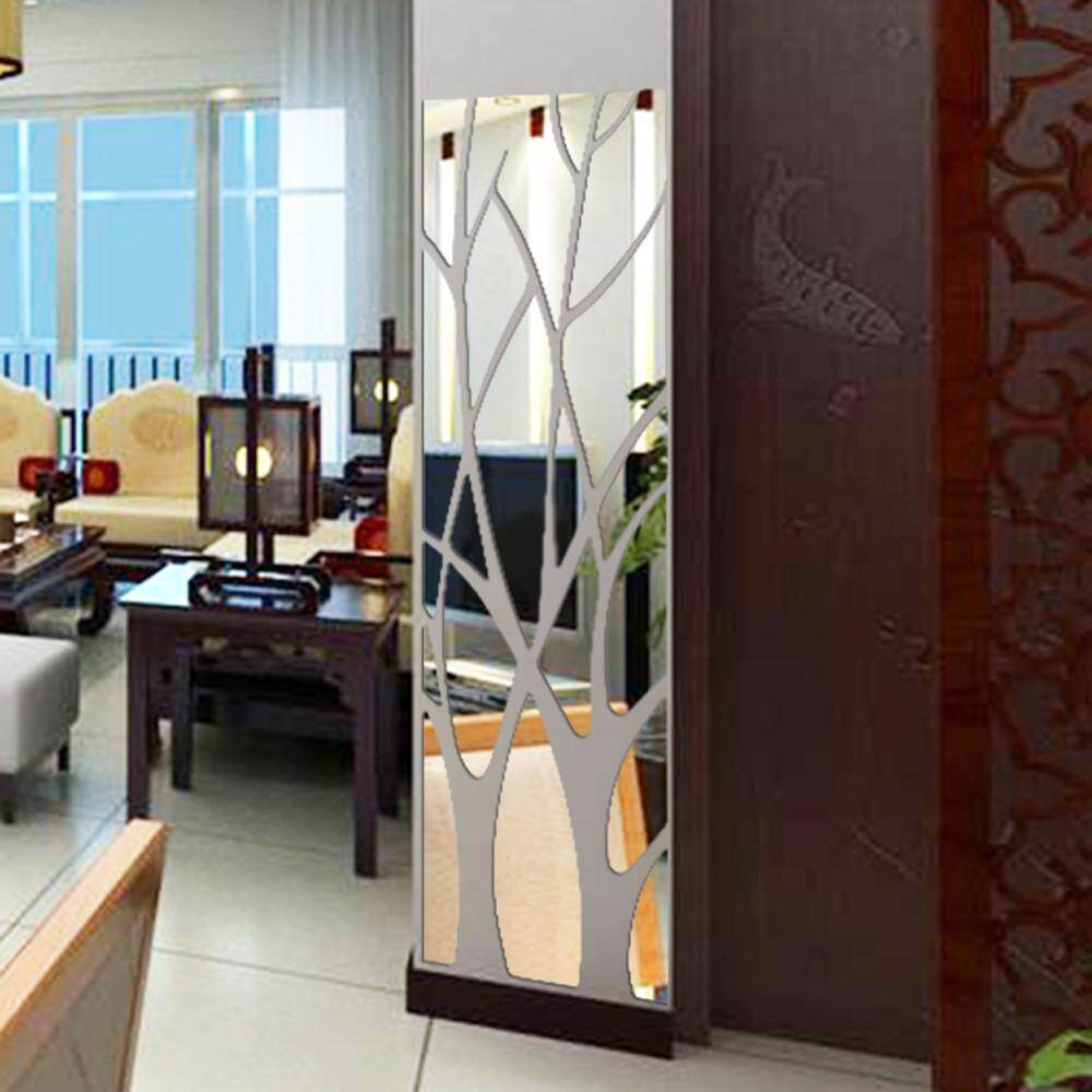 Fantnesty Modern Mirror Style Removable Decal Art Mural Wall Sticker Home Room DIY SL