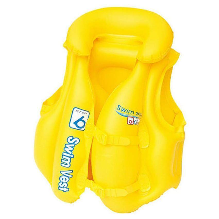 Bestway 32034 Swim Safe Premium Swim Baby Vest Jacket 51cm x 46cm Step B Yellow