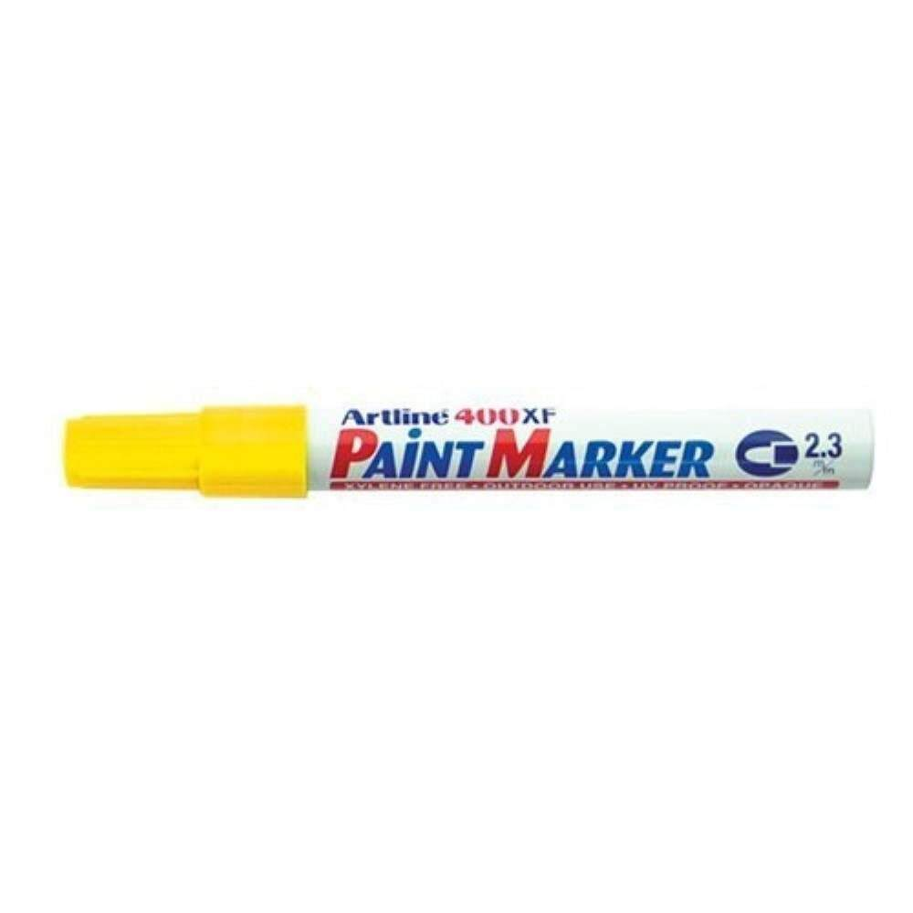 Artline 400XF Paint Marker Pen - 2.3mm Bullet Nib - Yellow
