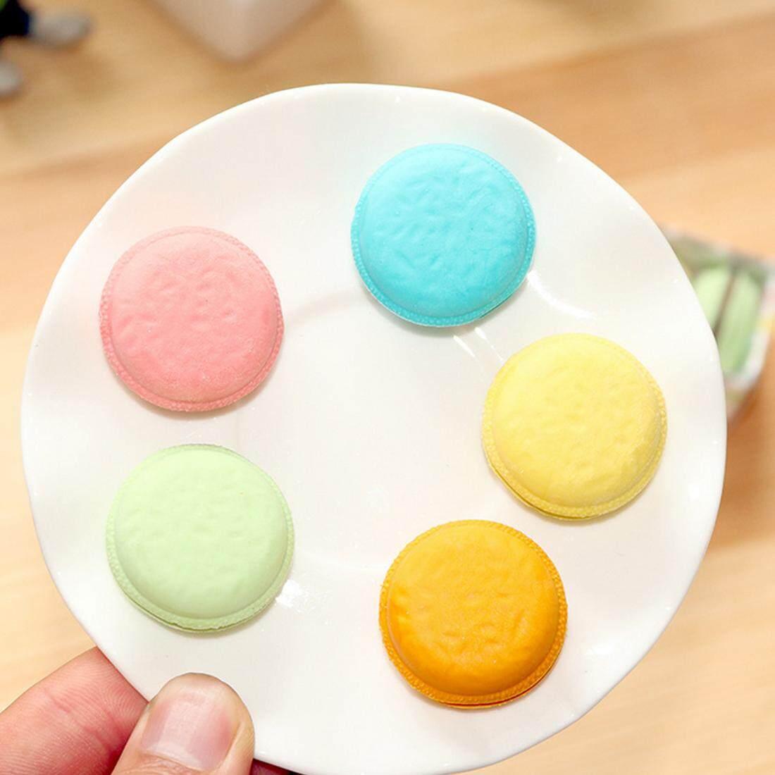... 5 Pcs Kawaii Lucu Kue Berwarna-warni Penghapus Karet Kreatif Penghapus Macaron untuk Hadiah Siswa ...