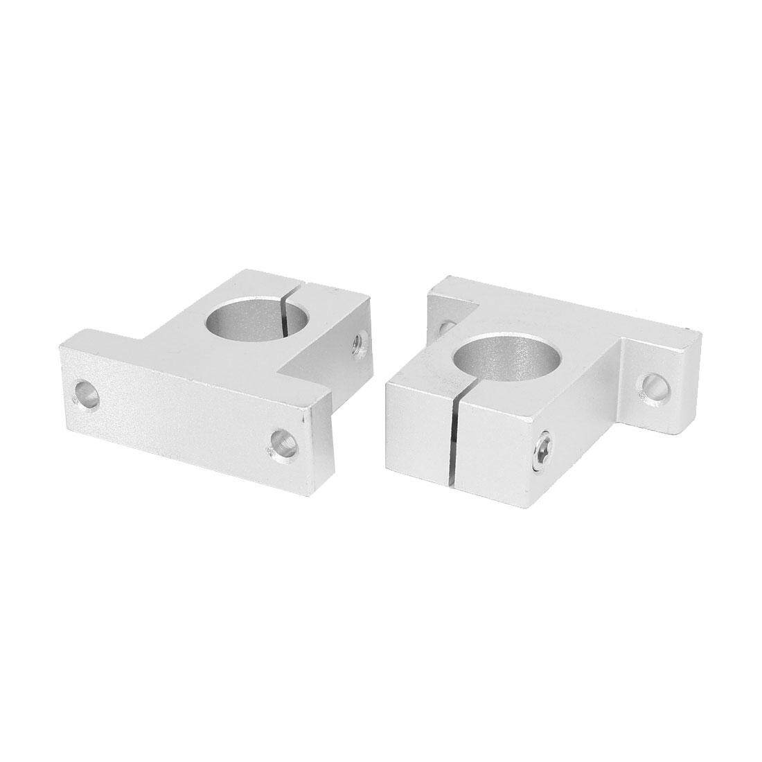 AXA SK25 25mm Shaft Inner Diameter Rail Linear Motion Guide Support Silver Tone