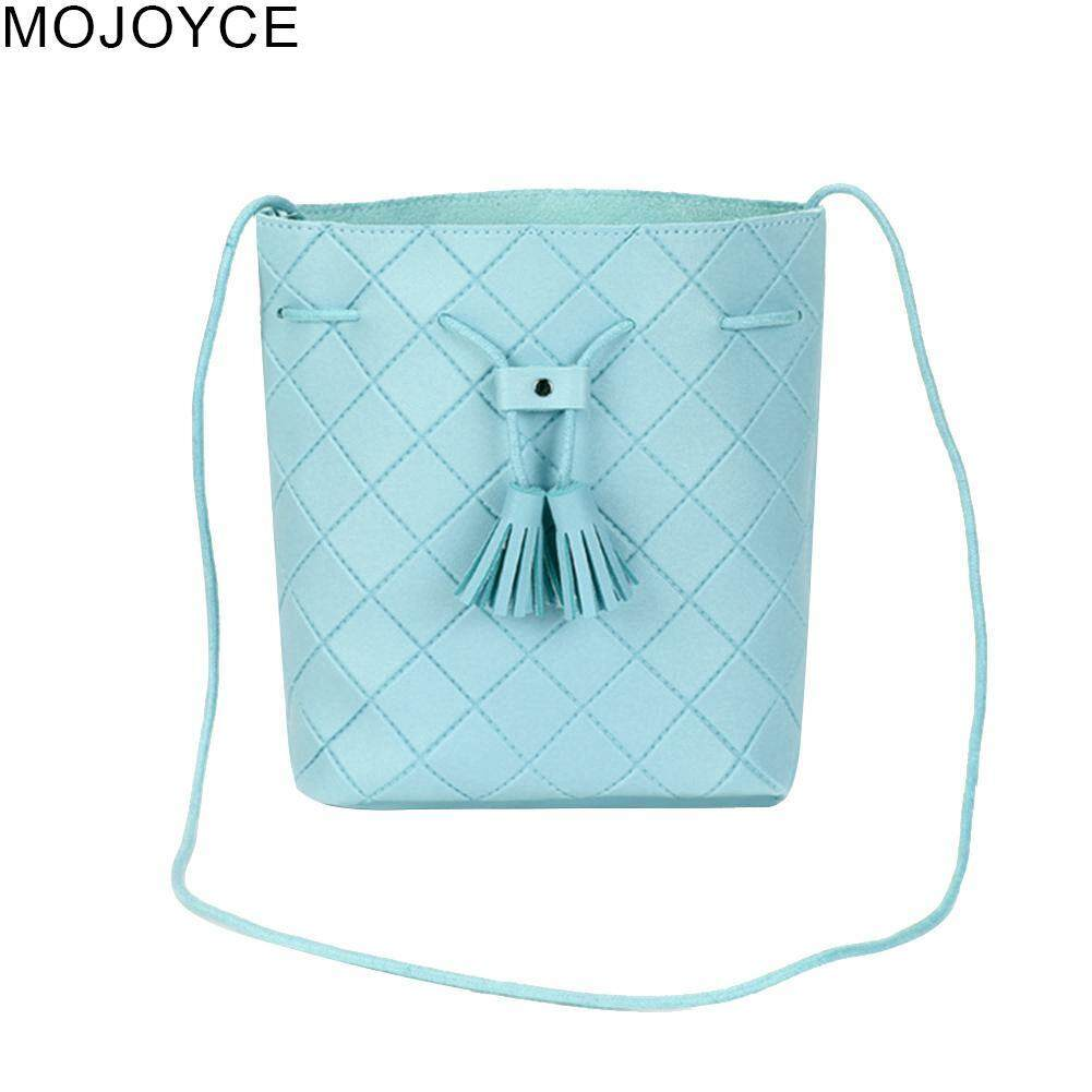 MOJOYCE Fashion Women PU Leather Tassel Crossbody Handbags Shoulder Bucket Bags Mini Sling Bags