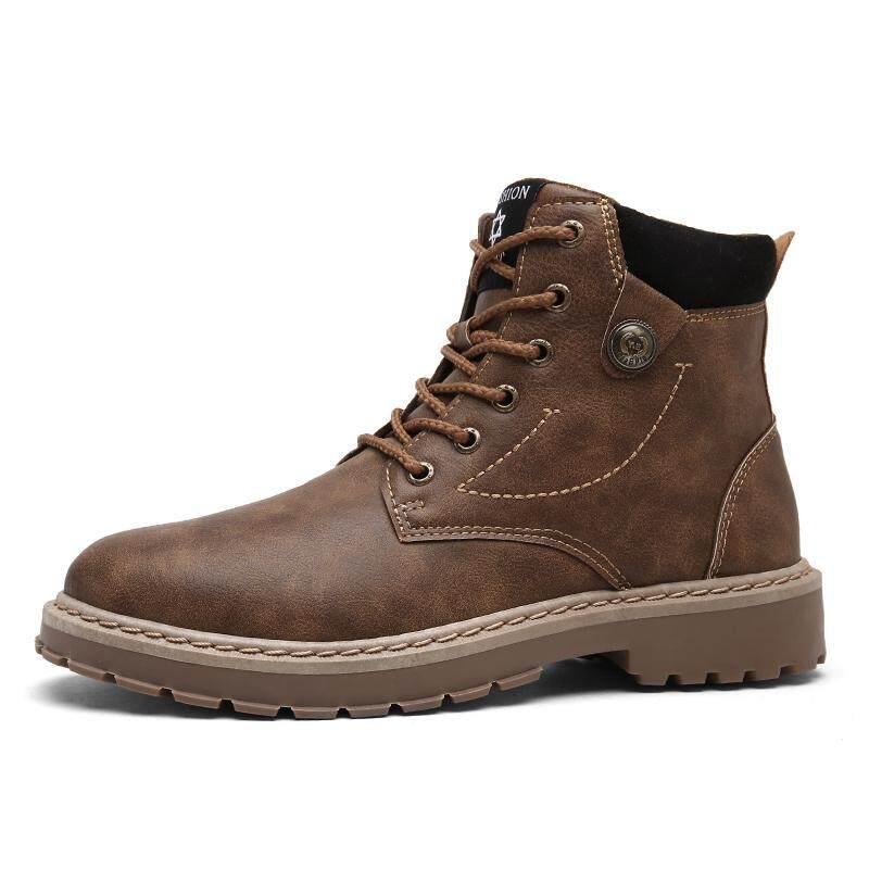 ฤดูใบไม้ร่วงและฤดูหนาวสูงรองเท้าผู้ชายรองเท้า Tooling By Asia Online Supermarket.